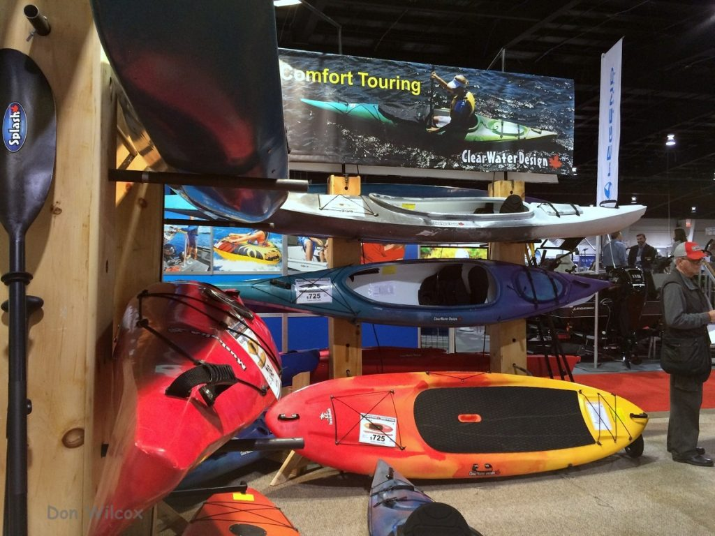 Clearwater Designs kayaks at the Toronto Sportsmen's Show