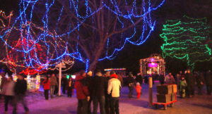 Entering Alight at Night at Upper Canada Village